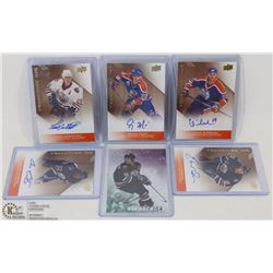 LOT OF 6 AUTHENTIC AUTOGRAPHED HOCKEY OILER HOCKEY