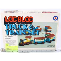 1970'S LOC BLOC TRUCK AND TRAIN SET