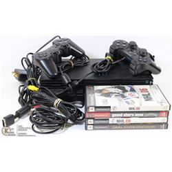 SONY PLAYSTATION 2 CONSOLE WITH 2 CONTROLLERS