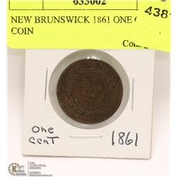 NEW BRUNSWICK 1861 ONE CENT COIN