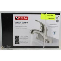 DELTA STAINLESS STEEL FINISH BATHROOM FAUCET