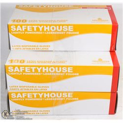 LOT OF 5 BOXES OF 100 POWDERED LATEX GLOVES SIZE M