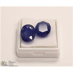 255) NATURAL SAPPHIRE TOTAL 18.5CT TWO PCS