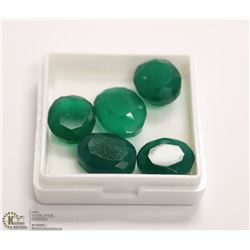 280) NATURAL GREEN ONYX TOTAL 33CT 5PCS