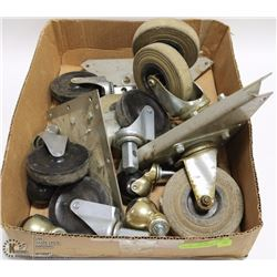 FLAT WITH MANY HEAVY DUTY CASTORS (2 SETS OF 4) &