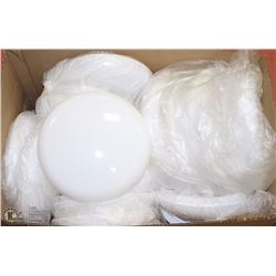 LOT OF MANY NEW LIGHT COVERS , WHITE PLASTIC