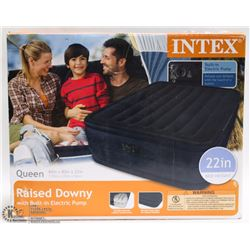 INTEX QUEEN SIZE BLOW UP MATTRESS