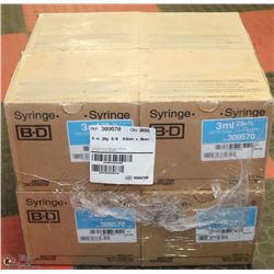 CASE OF 100  B-D 3ML SYRINGES 309570 (8 BOXES)