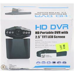HD DASH CAM WITH ADAPTER NO BATTERY