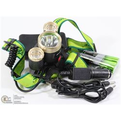 6000 LUMEN TACTICAL LED HEADLAMP WITH LITHIUM