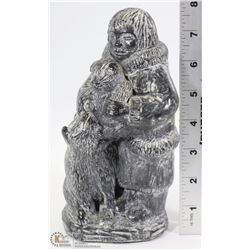 "8"" TALL ORIGINAL ESKIMO CARVING BY WOLF"