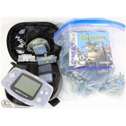 GAMEBOY ADVANCE CONSOLE WITH MANY GAMES,