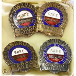 ESTATE 4 PINS OFIMPERIAL OIL LTD SAFE DRIVER AWARD