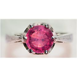 #4-STERLING SILVER RUBY RING SIZE 5.5