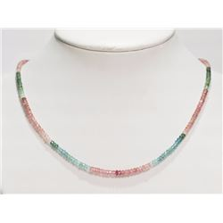 #9-14K YELLOW GOLD PINK AND GREEN TOURMALINE