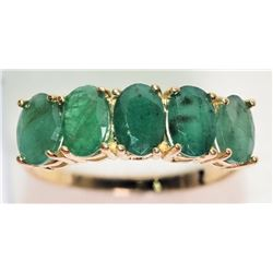 #11-10K YELLOW GOLD EMERALD (2.4CT) RING SZ 6.5