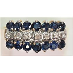 #16-10K YELLOW AND WHITE GOLD SAPPHIRE SIZE 6
