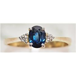 #19-10K YELLOW GOLD SAPPHIRE (1.15CT) AND
