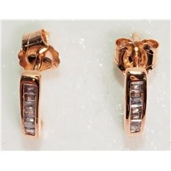 #24-10K ROSE GOLD DIAMOND (0.10CT) EARRINGS