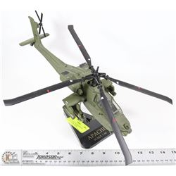 APACHE HELICOPTER DIECAST SCALE 1:40 ON  STAND
