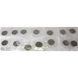 LOT OF 14 RCM SEALED CANADIAN QUARTERS INCL YEARS