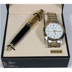 NEW ROYALE WATCH & PEN SET IN BOX