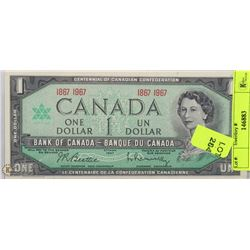 CANADIAN CENTENNIAL $1 BILL
