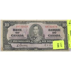 1937 CANADIAN $10 BILL