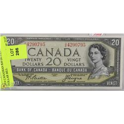 1954 CANADIAN $20 DEVILS FACE  DOLLAR BILL