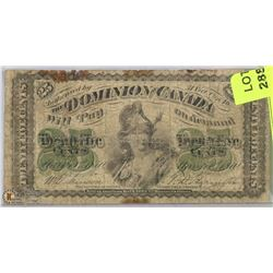 1870  CANADIAN SHINPLASTER