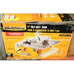 "WORKFORCE 7"" WET TILE SAW"