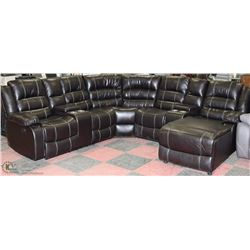 NEW BORDEAUX 5 PC SECTIONAL WITH BUILT IN CHAISE