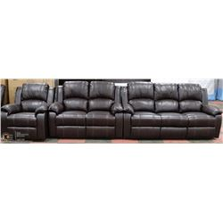 NEW MUNICH 3 PC LEATHERAIRE RECLINING SOFA SET
