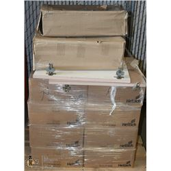 PALLET OF CABINET HINGES/HARDWARE