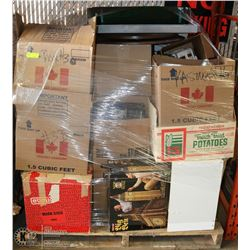 ESTATE PALLET OF ASSORTED DISHES, PUZZLES, GAMES,