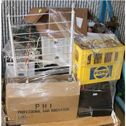 PALLET OF MISC HOUSEHOLD WITH ELECTRONICS,