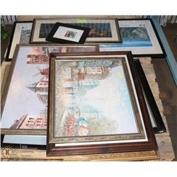 PALLET OF ESTATE FRAMED PICTURES