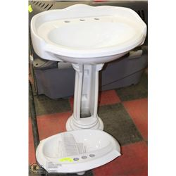 2 NEW BATHROOM SINKS W/ ONE PEDESTAL, BOTH SINKS