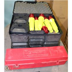 POLICE SEIZURE. LOT OF 2 BATTERY OPERATED FLARES