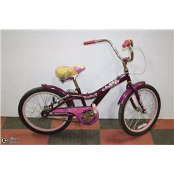 POLICE SEIZURE.HUFFY HANNAH MONTANA BIKE PURPLE