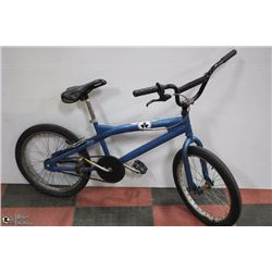 POLICE SEIZURE, BLUE WITH STICKERS ON FRAME BMX