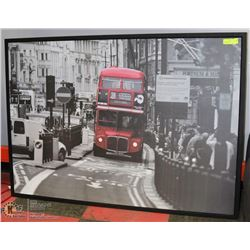 "B&W  56""X39"" PICADILLY SQUARE FRAMED PICTURE"