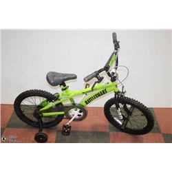 NEW  500 RATTLE SNAKE 18INCH BMX WITH TRAINING