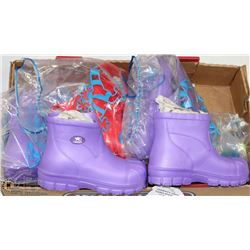 FOUR PAIRS SIZE 3 KIDS SUMMER BOOTS