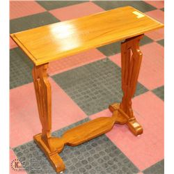 """WOOD SIDE TABLE 25""""X10""""X26""""H"""
