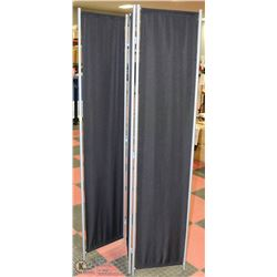 CLOTH AND METAL BLACK OUT ROOM DIVIDER