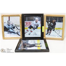 BOX OF 4 ASSORTED OILER HOCKEY FRAMED PICS SIGNED
