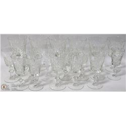 ESTATE BOX OF PINWHEEL CRYSTAL GLASSES ON CHOICE