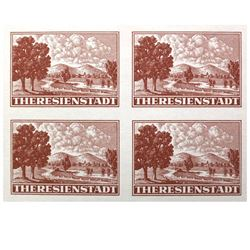 THERESIENSTADT 1944 RED CROSS SOUVENIR SHEET