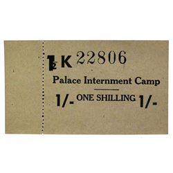 PALACE ISLE OF MAN WORLD WAR II INTERNMENT CAMP NOTE